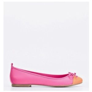 Ann Taylor Shanna Colorblocked Leather Flats 9M